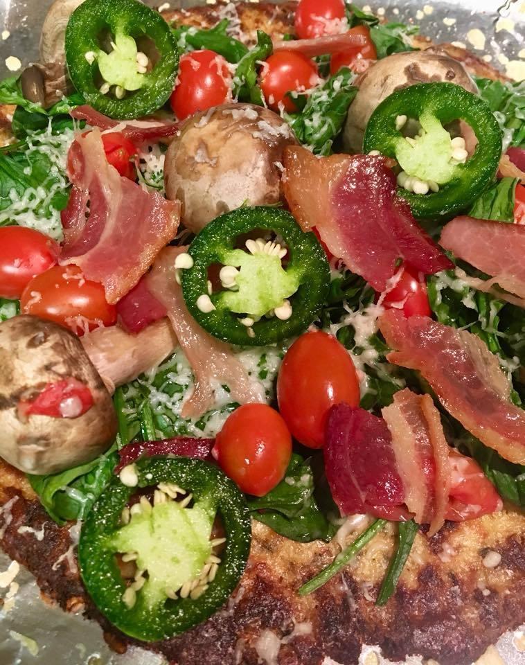 Califlour Foods coupon-Bacon & Veggie pizza on cauliflower