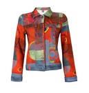 Product image for Simply Art Dolcezza: Expression of Color Yellow Dot Abstract Art Denim Jacket