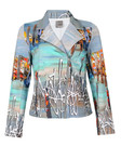 Product image for Simply Art Dolcezza: Indeed A Picture Perfect Beach Abstract Art Zip Moto Jacket (1 Left!)