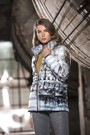 Product image for Simply Art Dolcezza: Parisian Life Abstract Art Puffer Jacket (1 Left!)