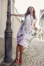 Product image for Maloka: A Day In Paris Abstract Art Midi Dress