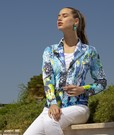 Product image for Simply Art Dolcezza: The Love of Blue Happiness Abstract Art Zip Jacket (1 Left!)