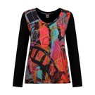 Product image for Simply Art Dolcezza: Red 3 Graffiti Abstract Art Keyhole T-Shirt