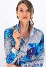 Product image for Simply Art Dolcezza: Blue & White Yin Yang Art soft Denim Jacket