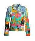 Product image for Simply Art Dolcezza: Leisurely Love Stowe In October Abstract Art Soft Denim Jacket