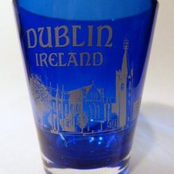 Milan Italy Cobalt Blue Frosted Shot Glass World By Shotglass milancb