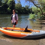 Rover 120 Inflatable Single Person Whitewater Kayak - FREE