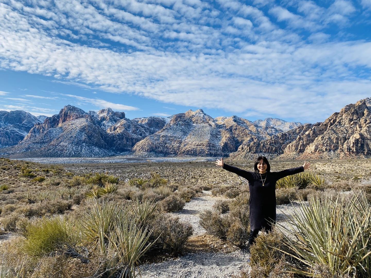 Vegasのホテルから約30分で…大自然が満喫出来て、とても良いツアーでした。 ガイドの山本さん…評判通り👍中華のグレード…もう少しアップなら⭐️5つかな⁉️