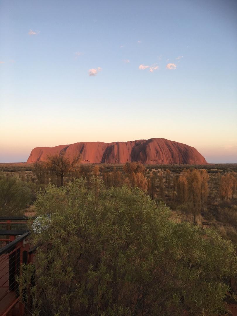 海外旅行など自分には縁が無いと思っていたが、一念発起してオーストラリアへ。 まさかこの目でウルルを見ることができるとは思わなかったのでただただ感動。 ガイドさんは空港に到着した直後から送迎やホテルのチェックイン、ウルルやカタジュタの観光と滞在中全てをサポートしてくださり、とても快適に観光することができた。 余程旅慣れた人でない限り、事前にオプションツアーを申し込んでからウルルを訪れるのが最良の選択だと思う。