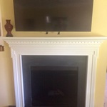 Mantelmount Standard Above Fireplace Pull Down Mount