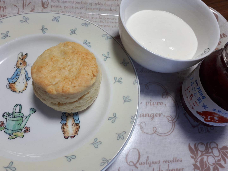 スコーンは何度も作った事あるのですが、サワークリームは初で、クセなく食べやすく美味しかったです🎵 アフタヌーンの話も知らない事が多く、とても有意義でした。他の英国菓子もぜひレッスン頂きたいです。ありがとうございました。