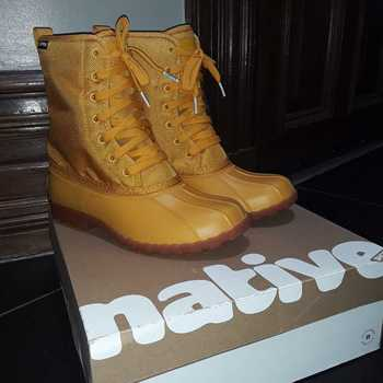 Got the yellow boots as