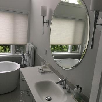 Frameless Round Wall Mirrors Bathroom Mirror Large