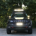 Jeep 20 Inch Led Light Bar Hood Mounts 97 06 Wrangler Tj