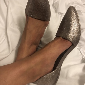 Sparkly D'Orsay Flats | Audrey Bling