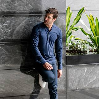 Did you know? Our Composite Henley has the structure of a dress shirt (down to the classy button cuffs), but is as soft as your favorite tee - making it the perfect wardrobe staple. (We've got a short sleeve version too!) . . . . #composite #henley #tshirt...