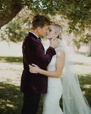 Keep me as the apple of your eye; hide me in the shadow of your wings. - Psalm 17:8  Venue: thejoycenter Photography: kaylinandmax  Dress: justinalexander lovestruckbridalboutique  Rings: brilliantearth rmsjewelers Bridal bouquet: rootsfloral Makeup: jennj...