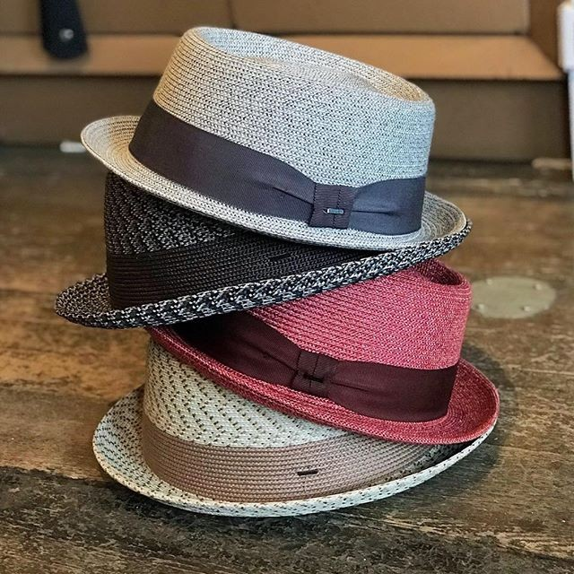 c8496698 Braided straw pork pie shapes available in an array of colors. #baileyhats  Source: