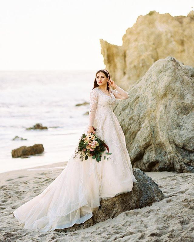 Beautiful Wedding Dresses.Princess Court Train Lace Tulle Gothic Wedding Dress Ld4622