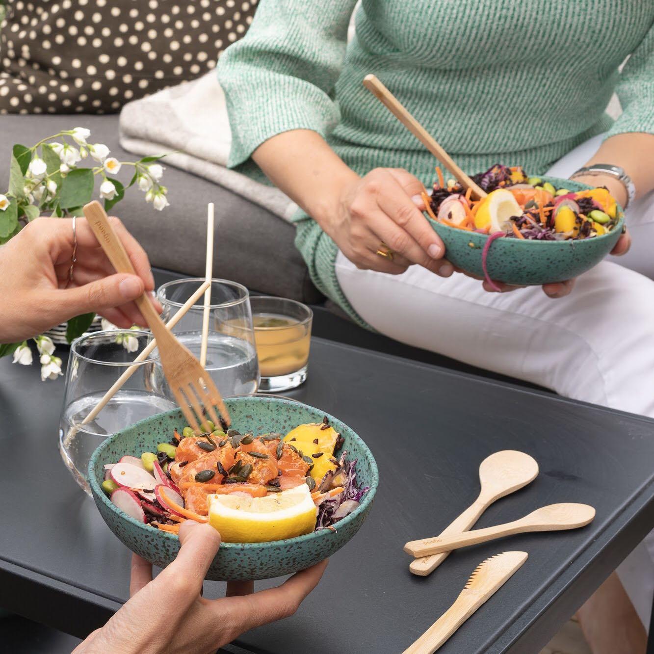 Bamboo Cutlery Set Adult