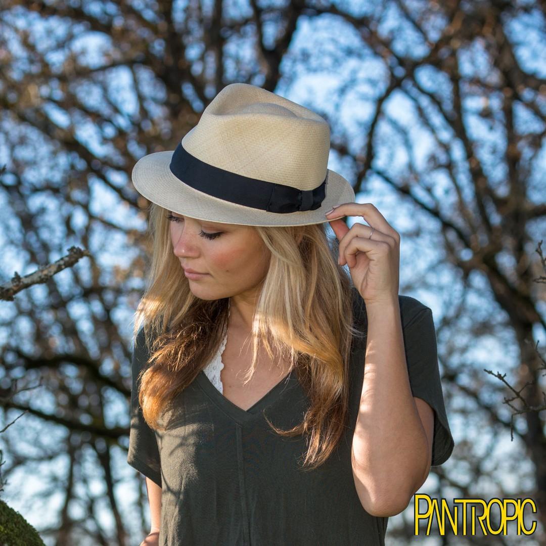 Doingshop Mens Fedora Hat Panama Straw Hat Sun Hat for Summer Beach