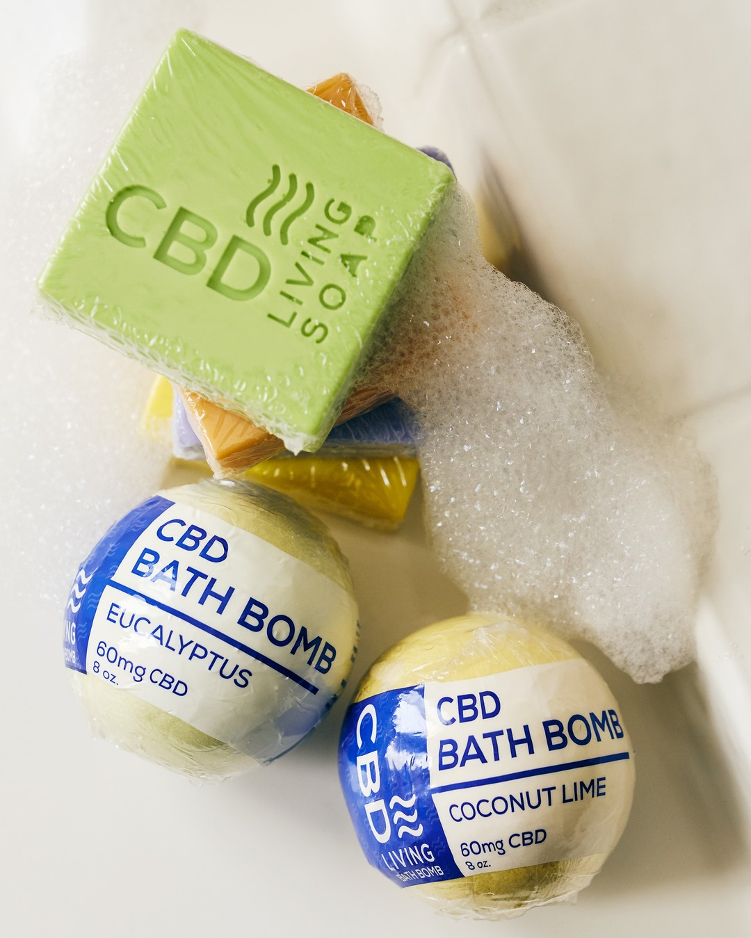Image taken by cbdlivingwater of CBD Living Bath Bomb 100 mg Eucalyptus