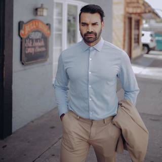The most movable and breathable menswear I've thus far found is produced by #ministryofsupply - Their moisture-wicking technology is perfect for that moment when you forget to pay your speeding ticket(s) and end up having to go to court. . . . . . #menscas...
