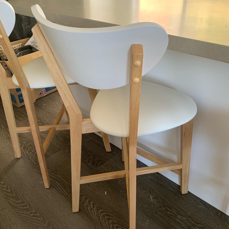 Toto Bar Stool in White  Fantastic Furniture