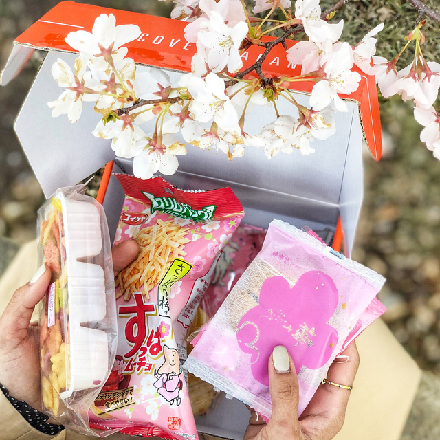 When you get your April bokksu snack box and open to find it's theme is #sakura (Japanese word for #cherryblossom) you head on over to your neighborhood park strewn with the beautiful blooms to enjoy it🌸 •  #ambcollab #ambbokksu #uniquesnacks #ad #spon • • • • • • • #confessionsofasuperager #midlifeinstyle #brandambassador #snacktimeisthebesttime #japanesesnacks #snacksfordays #subscriptionbox #ilovemysnacks #microinfluencer #microinfluencer #trenchcoat #classictrench #celinesunnies #nikeairmax270 #sneakertrend #styleinspirations #wiw #trench #ipreview preview.app