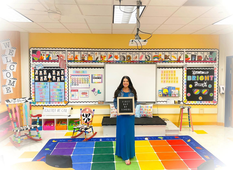 rainbow classroom makeover