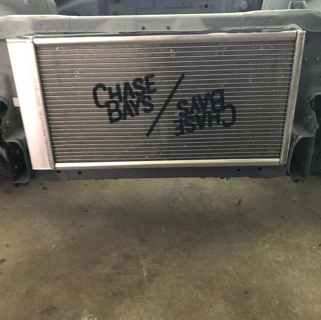 Chase Bays Tucked Aluminum Radiator - Nissan 240sx S13 / S14 / S15 and R32