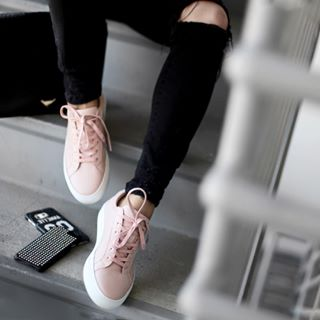The Royale - Blush Perforated Leather