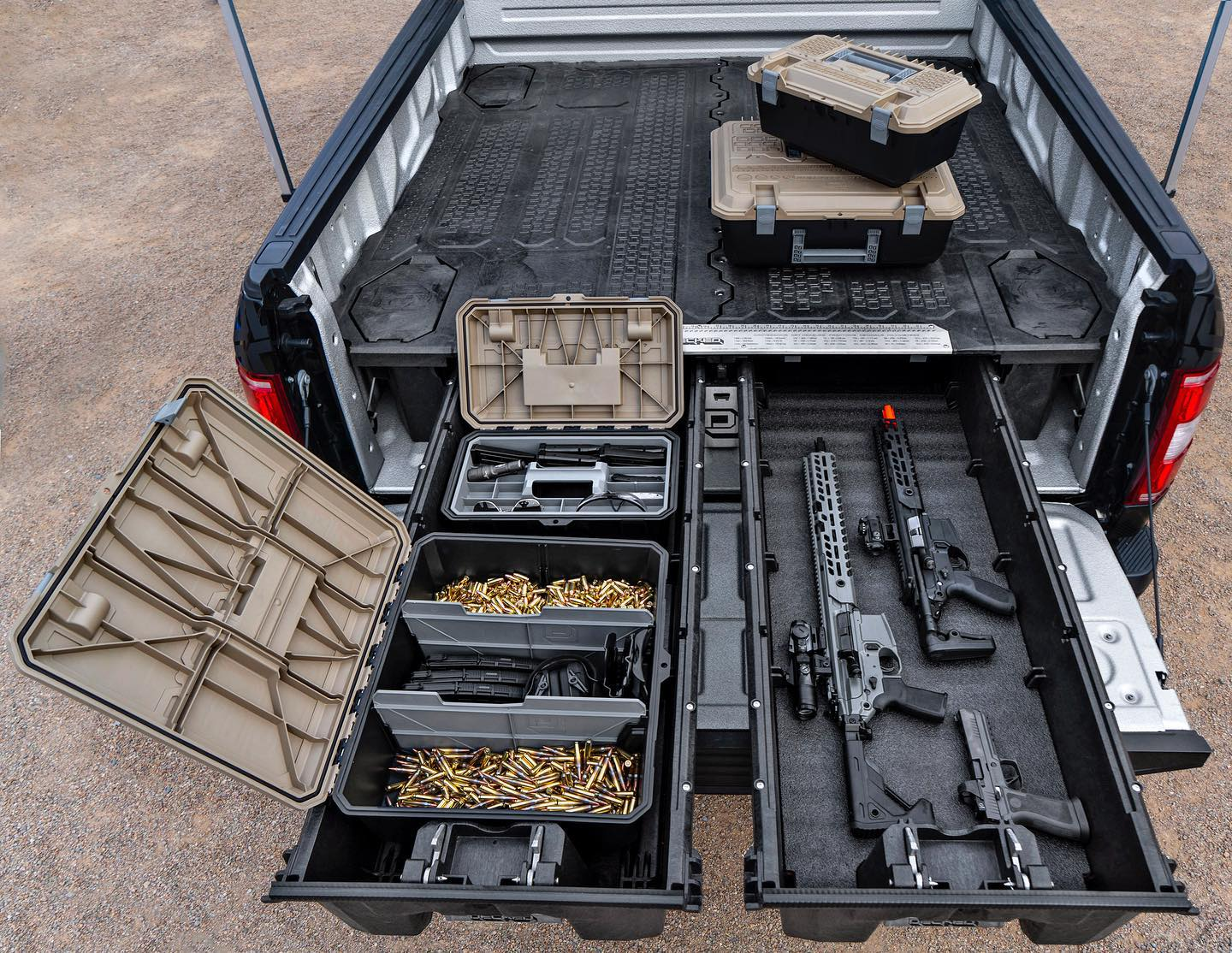 Secure Gun Storage And Organizers For Your Truck Decked