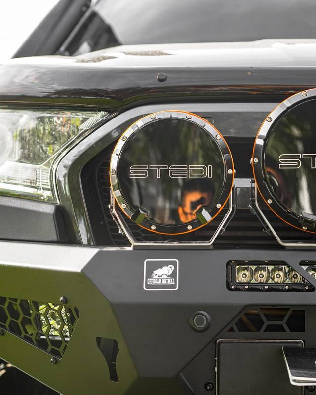 PX2 Ranger - fitting:  💥 offroad_animal Predator Bar.  💥 stedi_australia Type X Sport Driving Lights.  💥 stedi_australia ST3K Light Bar.  💥 drivetech4x4 Dual Speed Winch.  💥 gme_au UHF Radio And Antenna.   #offroadanimal #fordranger #stedi #drivetech4x4 #aussieoffroad #4wdaccessories