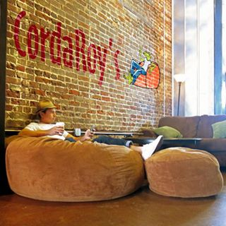 Surprising Corduroy Convertible Chair Folds From Bean Bag To Bed As Dailytribune Chair Design For Home Dailytribuneorg