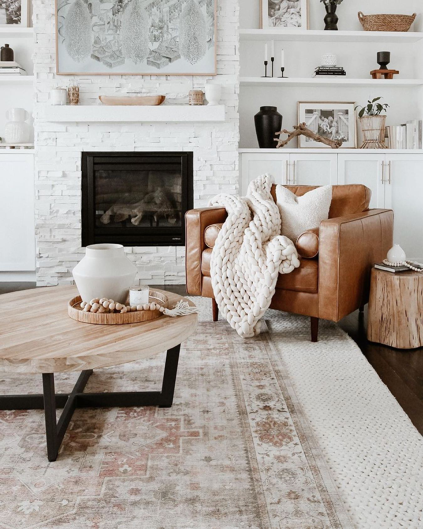 Layers of Texture - Rustic Living Room Ideas